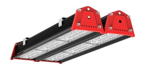 Black Red LED Low Bay Garage Lighting / Bus Station Linear Lights 150 Wattage